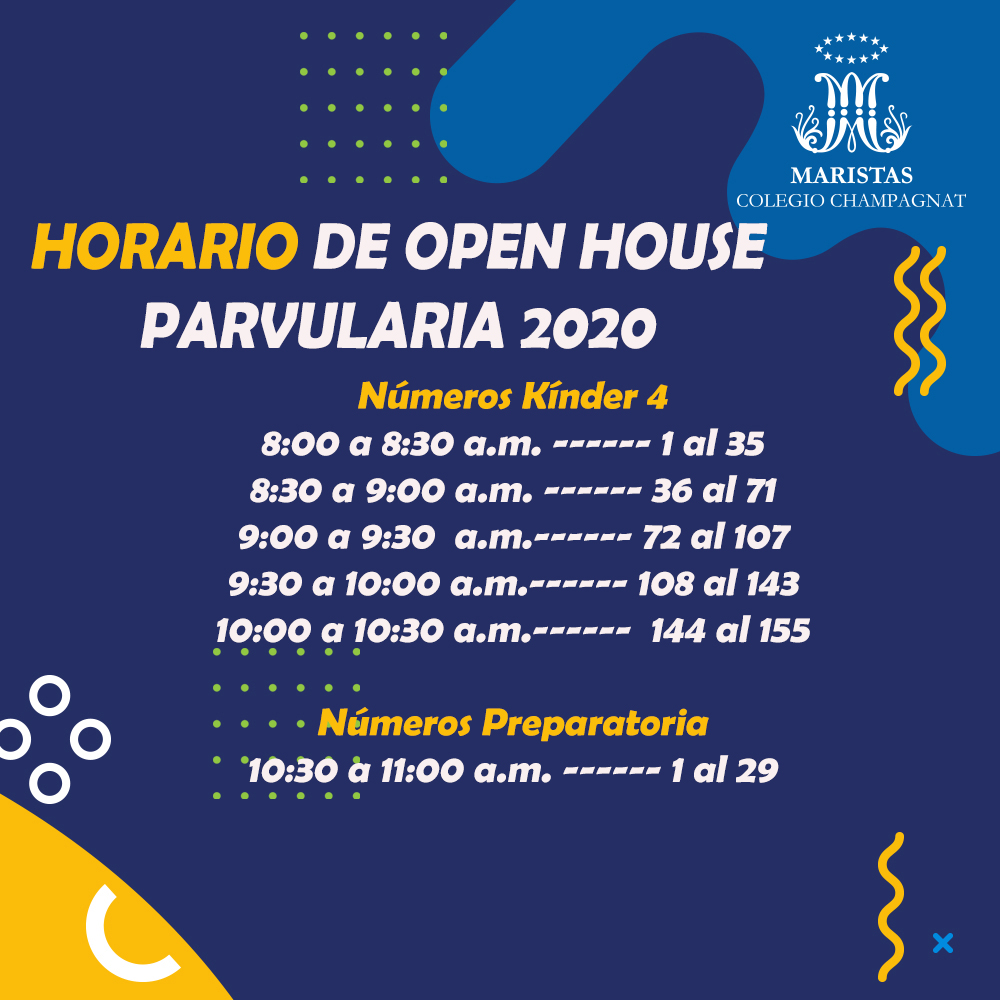 HORARIO DE OPEN HOUSE 2019